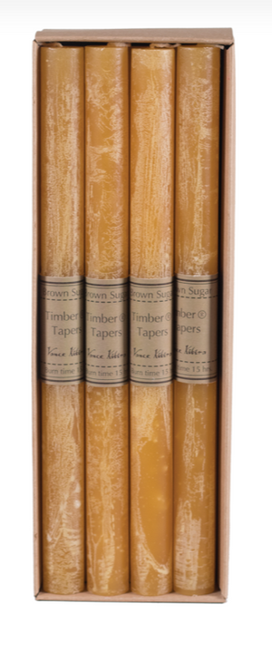 Individual Timber Taper Candle
