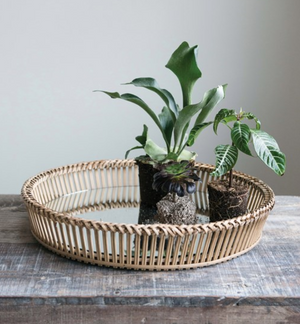 Decorative Rattan Tray - 13 Hub Lane   |  Tray