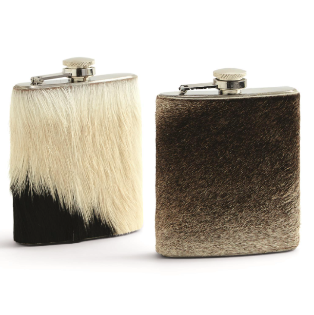 Cowhide/Goat Hide Flask - 13 Hub Lane   |