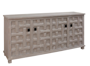 Sand Blasted 4-Door Sideboard - 13 Hub Lane   |