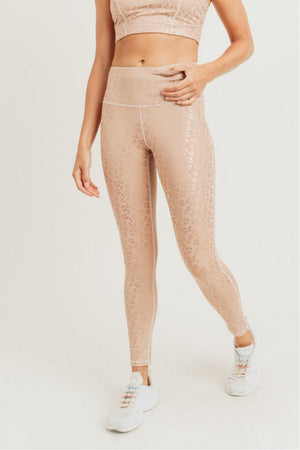 Leopard Foil Print Leggings - 13 Hub Lane   |