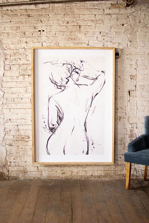 Framed Nude Print - 13 Hub Lane   |