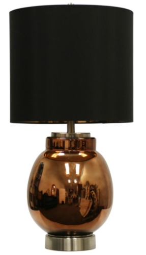 058-Table Lamp - Acworth/glass & Steel - 13 Hub Lane - Style Craft Table Lamp
