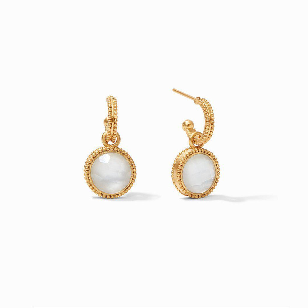 Julie Vos Fleur-De-Lis Hoop & Charm Earrings