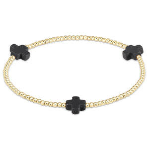 E Newton Signature Cross 2mm Bead Bracelet - 13 Hub Lane   |