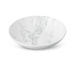 White Marble Melamine Salad Bowl - 13 Hub Lane   |  Serving Bowl