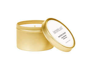 Winter Frost Gold Tin Candle - 13 Hub Lane   |
