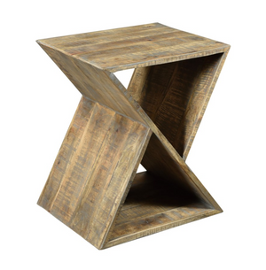 Bengal Manor Mango Wood Angled End Table - 13 Hub Lane   |