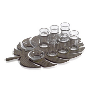 Monstera Leaf Tequila Set - 13 Hub Lane   |  Drinkware
