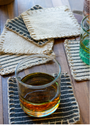 Cotton Jute Coasters, S/6