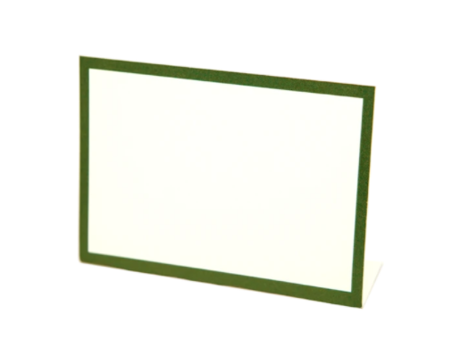 Dark Green Frame Place Card - 13 Hub Lane   |