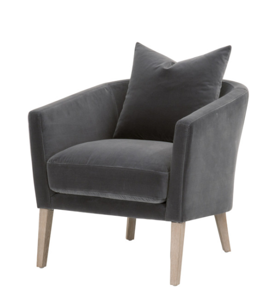 Gordon Velvet Club Chair - 13 Hub Lane   |