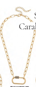 Necklace CANV Lola Mini Oval Carabiner - 13 Hub Lane   |