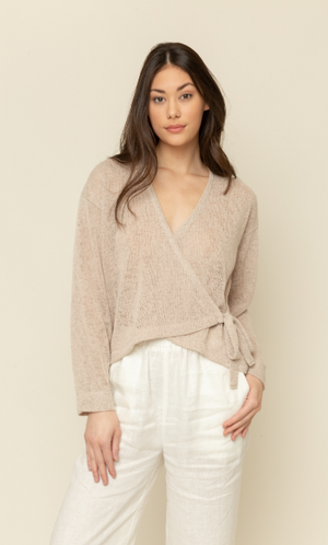 Light Knit Wrap Top - 13 Hub Lane   |  Shirt