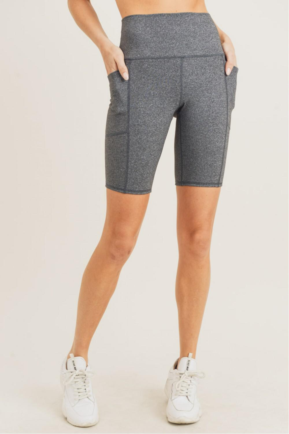 High Waisted Essential Bike Shorts - 13 Hub Lane   |