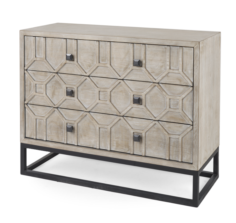Genevieve I 3-Drawer Accent Cabinet - 13 Hub Lane   |
