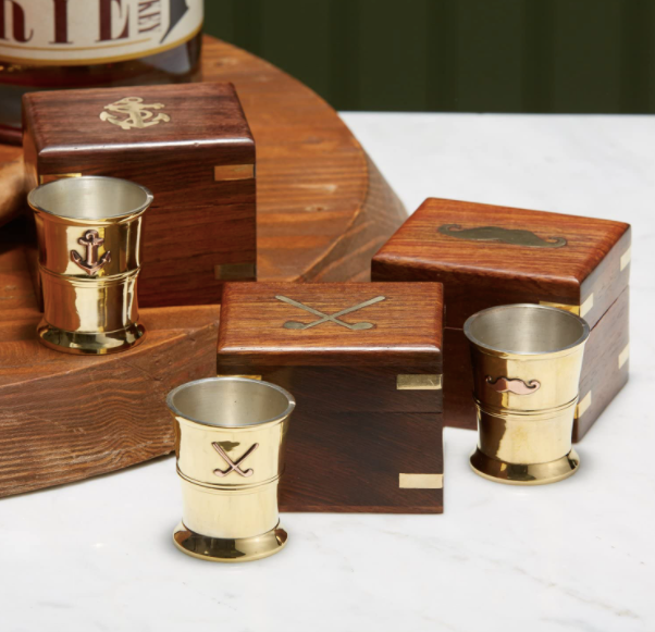 Shotglass in a Wooden Box - 13 Hub Lane   |