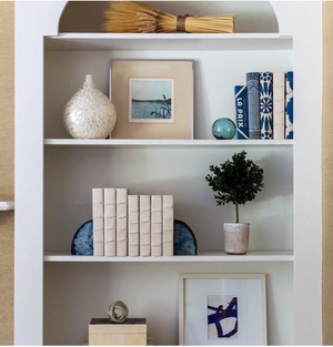 Cream Decorative Book - 13 Hub Lane   |