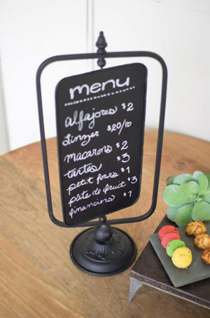 Table Top Swivel Chalkboard Sign - 13 Hub Lane   |