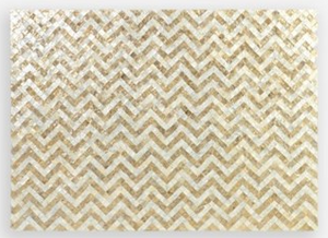 Wall Decor Capiz Herringbone Pattern - 13 Hub Lane   |