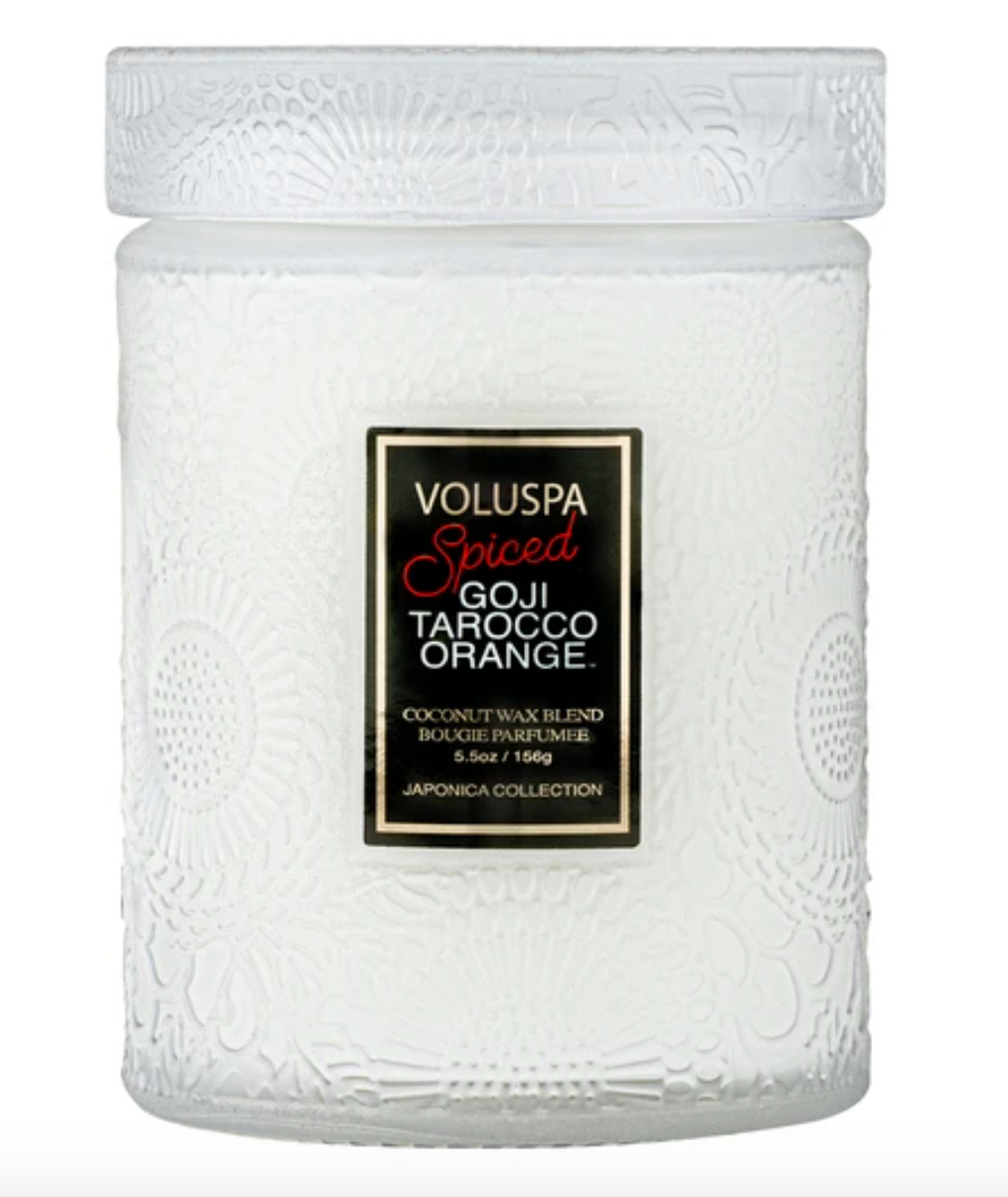 Voluspa 5.5 oz Spiced Goji Tarocco Orange Small Jar Candle