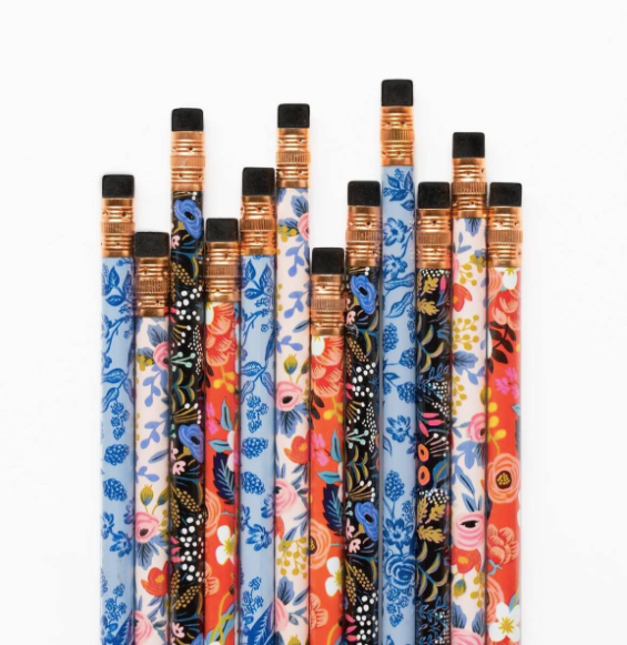 Floral Assorted Writing Pencil Set