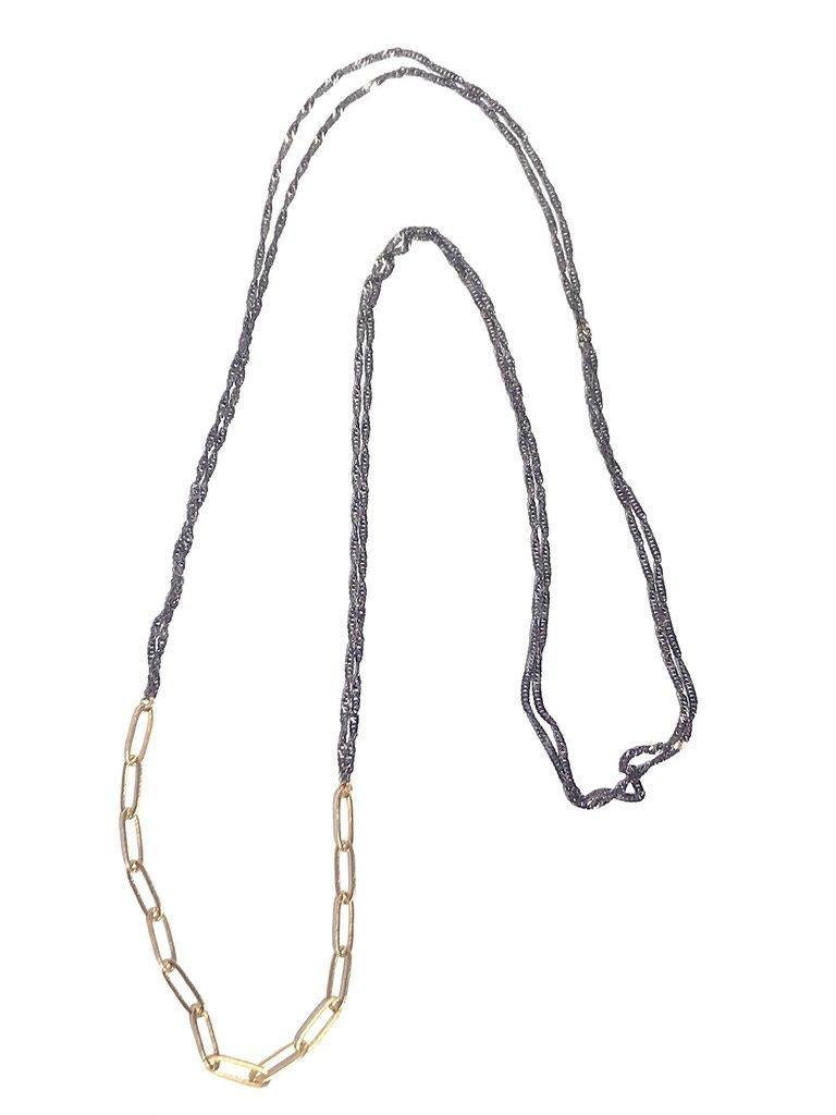 CV Designs Double Links Chain Necklace