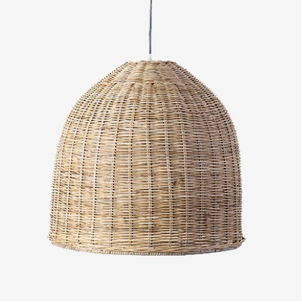 Driftwood Dome Rattan Pendant
