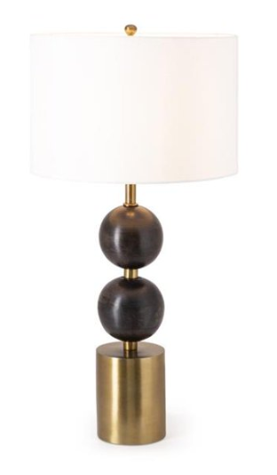 Reims Wood and Metal Table Lamp