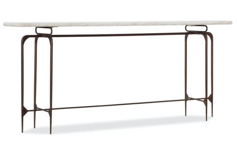 Skinny Metal and Marble Console