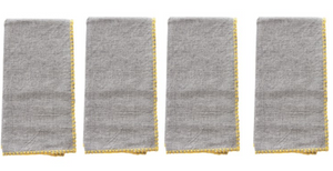 Yellow Edge Napkins, S/4 - 13 Hub Lane   |