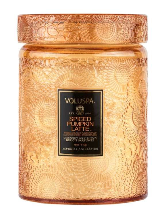 Voluspa Spiced Pumpkin Latte Jar Candle - 13 Hub Lane   |  Candle