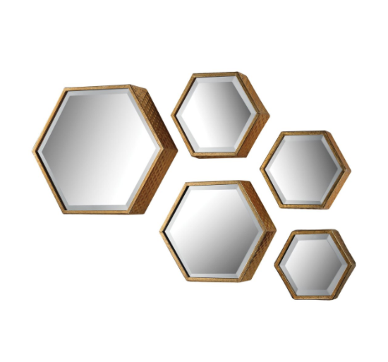 Hexagonal Modern Wall Mirror