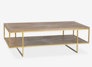 Claire Wooden Inset Coffee Table - 13 Hub Lane   |