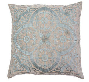 Pillow IH Quatrefoil Embroidery