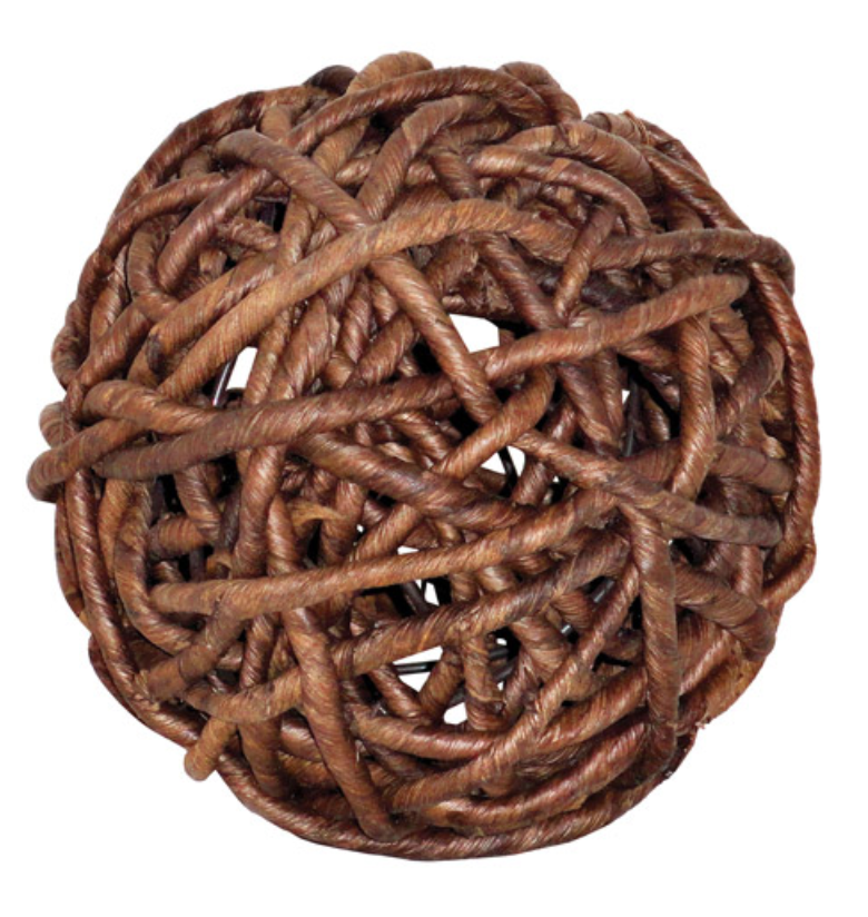 Woven Natural Decorative Sphere - 13 Hub Lane   |