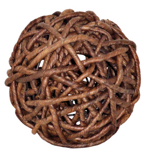 Woven Natural Decorative Sphere
