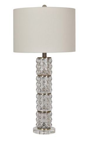 Lamp Chastain CRV Glass & Crystal