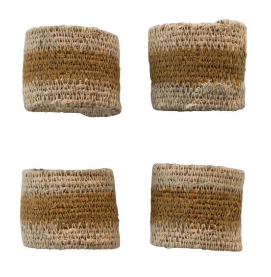 Seagrass Napkin Rings, S/4 - 13 Hub Lane   |
