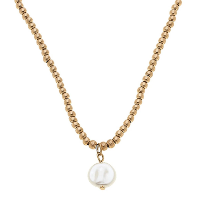 Aria Sphere Necklace - Pearl or Cross - 13 Hub Lane   |  Necklace