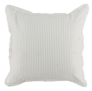 Karina Ivory Gray Euro Sham - 13 Hub Lane   |  Decorative Pillow