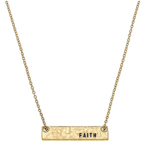 Faith Bar Necklace - 13 Hub Lane   |  Necklace