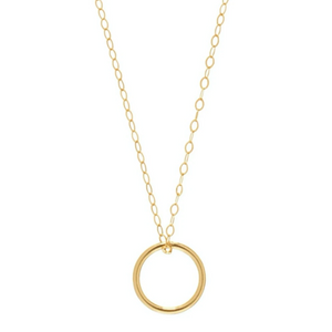 "E Newton Gold Halo Charm 16"" Necklace - 13 Hub Lane   