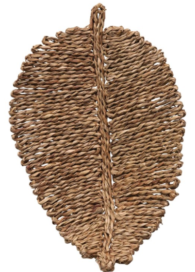 Woven Seagrass Leaf Shaped Placemat - 13 Hub Lane   |