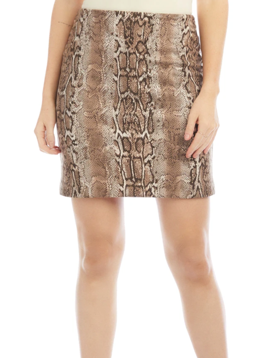 Fifteen Twenty Faux Suede Mini Skirt