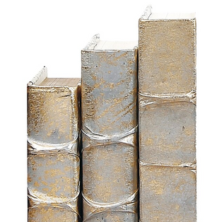Gold with Silver Overlay Decorative Books - 13 Hub Lane   |  Book