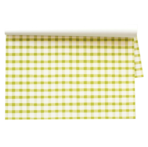 Green Painted Check Placemats