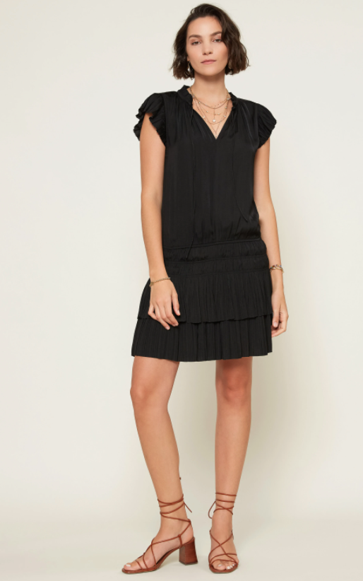 Zoey Pleated Mini Dress - 13 Hub Lane   |