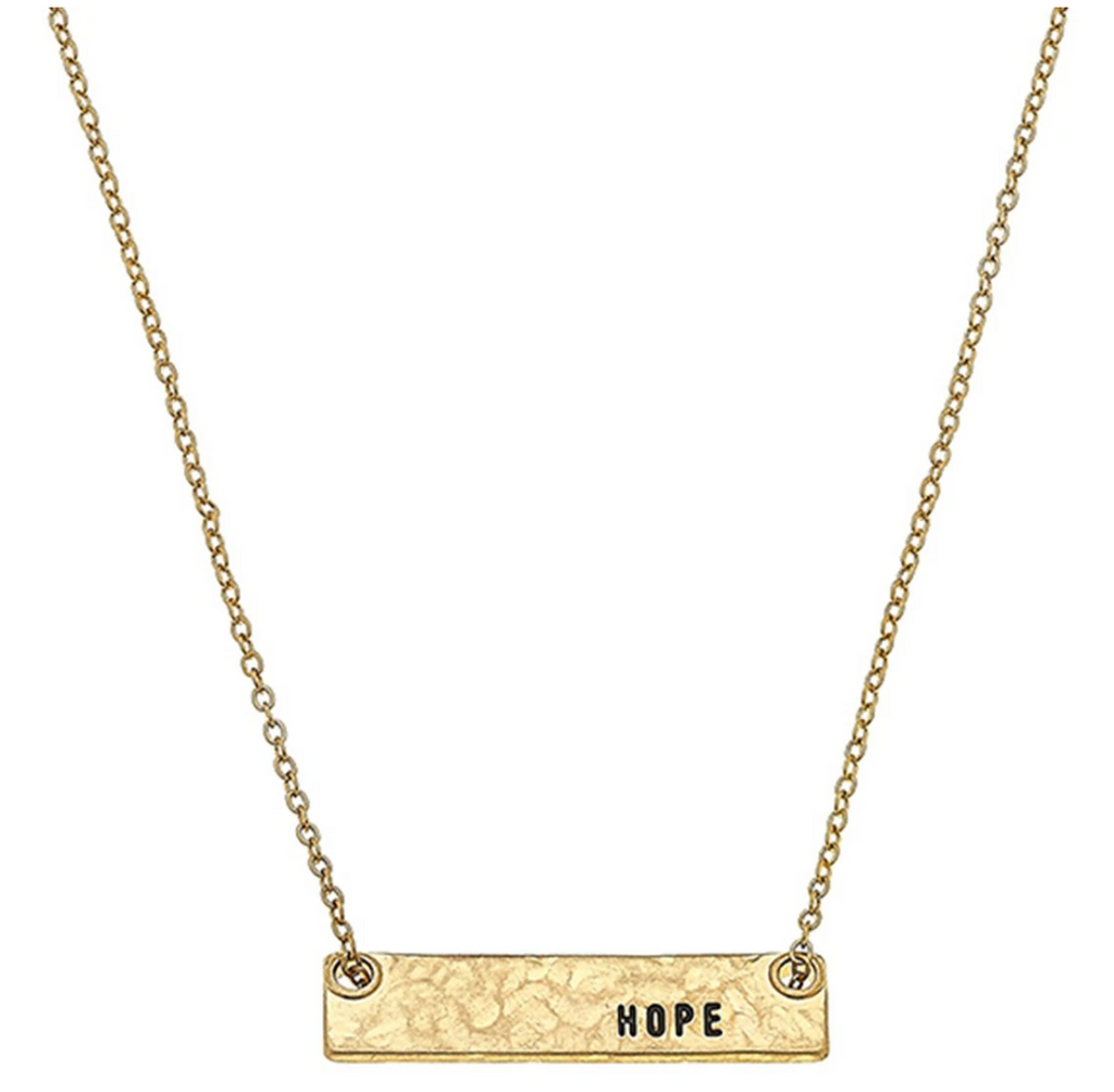 Hope Bar Necklace - 13 Hub Lane   |  Necklace
