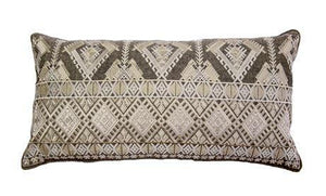 Pillow IH Geo Embroidery - 13 Hub Lane   |  Decorative Pillow